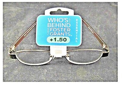 cd8eaca163 Foster Grant Womens Bridget Oval Reading Glasses Strong Copper Metal Frame  +1.50