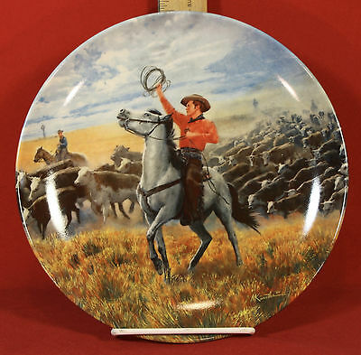 """OKLAHOMA"" 1985 Knowles ""Oklahoma"" Collector Plate 4th Issue in The Series"