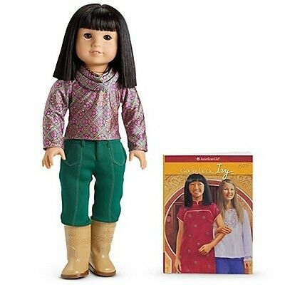 American Girl IVY LING DOLL & PAPERBACK BOOK top pants boots earrings NRFB