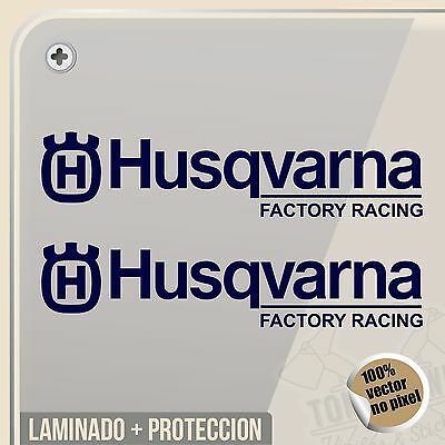 Pegatina Husqvarna Factory Racing Vinyl Sticker Decal Aufkleber Autocollant