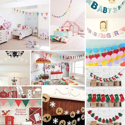 Bunting Banner Flags Garland Wedding Baby Shower Birthday Party Christmas Decor