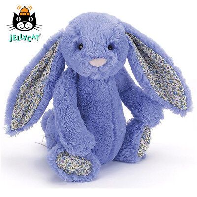 NEW Jellycat Blossom Bashful Bluebell Bunny Medium 31cm soft toy Blue Floral