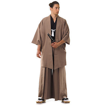 Traditional Japanese Samurai Kimono Set Kendo Gi + Hakama Pants + Haori Jacket