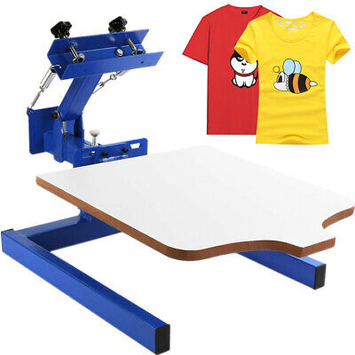 1 Color 1 Station Silk Screen Printing Machine Carousel Print Wood Manual Cut