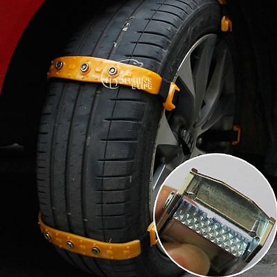 10pcs/set Car Snow Tire Chains Thickened Beef Tendon Fit For 185-225mm Tires