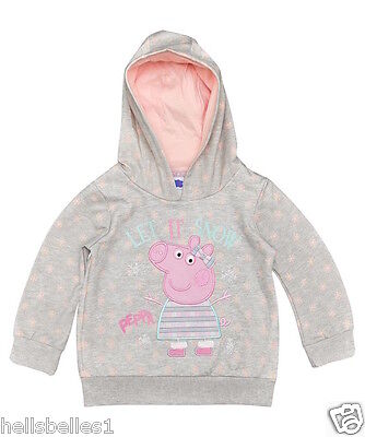"GIRL'S PEPPA PIG'S ""LET IT SNOW"" HOODIE/HOODED TOP 2 3 4 5 6 7 years"