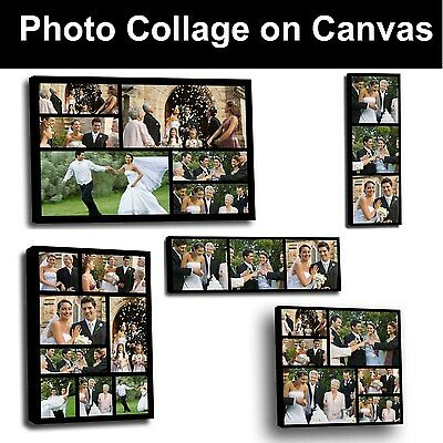Your Photo Collage Canvas Print - Personalised on Box/Wrapped Many Size - ND