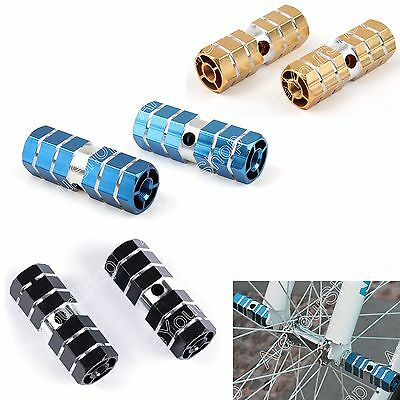 2Pcs Axles Aluminum Alloy Stunt Foot Pegs Pedal For BMX Bicycle Cycling