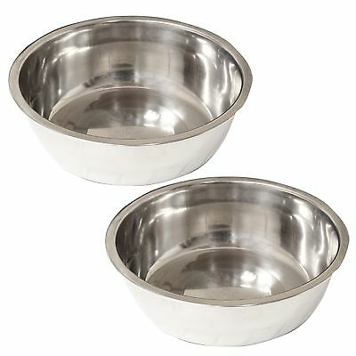 Pair Of Small 11Cm Stainless Pet Bowls For Puppy/dog/cat/kitten Feeding Dish X2