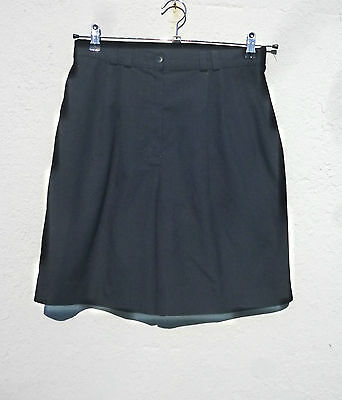 """Vintage 1990s High Waisted Pleat Front Black Shorts 29""""W 12"""