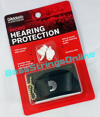 DAddario PWPEP1 Planet Waves Pacato Hearing Protection Ear Plugs Reusable 1-Pair