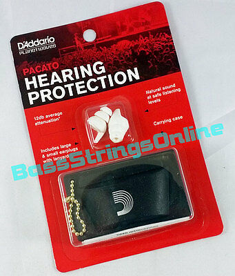 D'Addario Planet Waves Pacato Hearing Protection Ear Plugs Reusable - 1-Pair