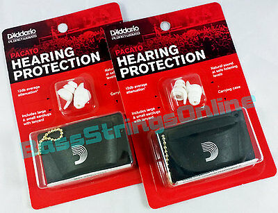 D'Addario Planet Waves Pacato Hearing Protection Ear Plugs Reusable - 2-Pair