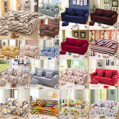 Universal Stretch Sofa Slipcover Skid Washable 1 2 3 Seater Pillow Covers FS