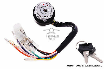 New ignition switch ON/OFF + keys Lambretta SX LIS Special LI TV* non battery