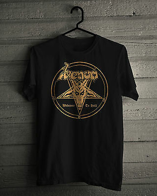 d9b94fdcf9ee New Venom Metal Band Welcome to Hell Music Graphic Cotton Black shirt size  S-2XL