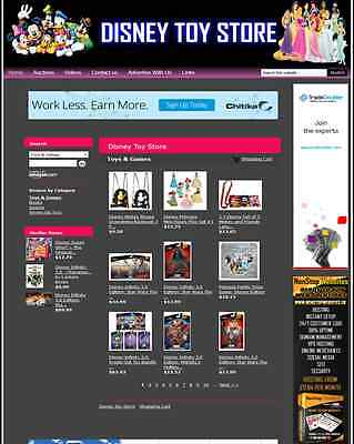 Disney Toy Store Amazon Website Business - Turnkey Website for sale