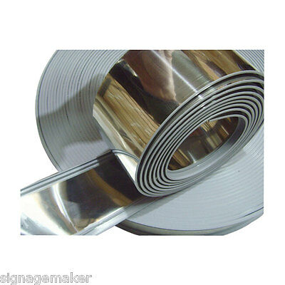 65mm x 35m Stainless Steel Extrusion Profile Coil Strips Acrylic Luminous Letter