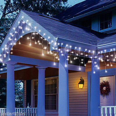 120 LED 3M/10ft Battery Icicle Lights WATERPROOF Outdoor, Timer & Multi function