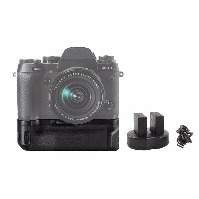 MEIKE MK-XT1 Battery Grip for Fujifilm X-T1 as VG-XT1 +2Pcs NP-W126 Dual Charger