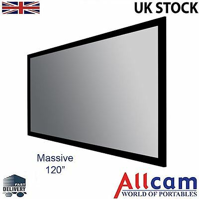 "PCW120AFF 120"" fully-stretched HD Projection Screen, Aluminium Frame w/ wrapping"