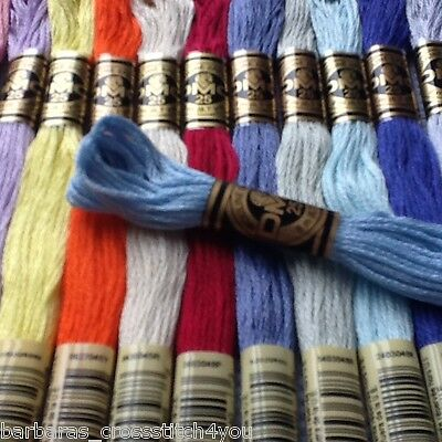 1 - 15 Dmc Threads Cross Stitch  Skeins - Pick Your Own Colours - Lot #1#