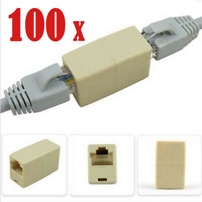 100 / 50 RJ45 Cat 5e Female to Female Network LAN Connector Joiner Extender
