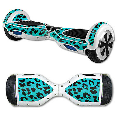 Skin Decal Wrap for Hover Board Balance Balancing Scooter Teal Leopard