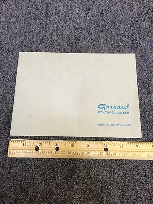 Garrard Lab 65B Turntable Original Owners Manual 16 Pages