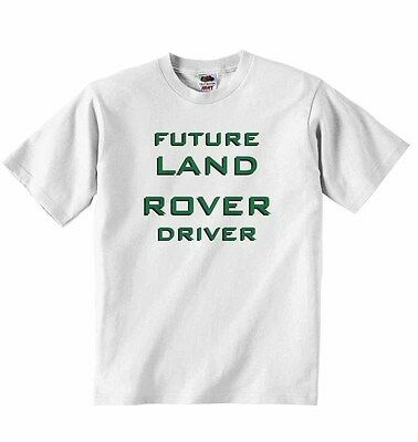 Future Land Rover Driver New Personalized Soft Cotton T-shirt Tees Boys Girls