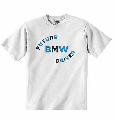 Future BMW Driver New Personalized Soft Cotton T-shirt Tees Boys Girls Unisex