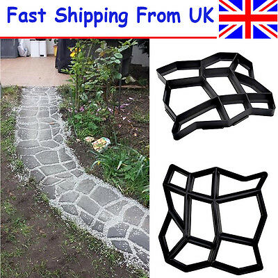 Garden Walk Maker Mould Solid Driveway Paving Patio Concrete Slabs Path Pathmate