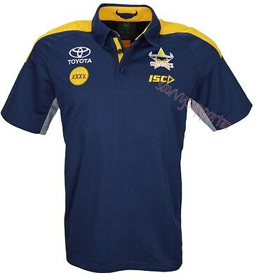 North Queensland Cowboys 2016 NRL Navy Media Polo Shirt 'Select Size' S-5XL