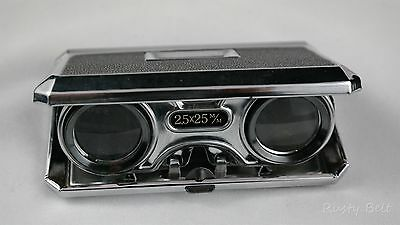 Vintage Sport Glass 2.5 x 25 m/m Black and Chrome Binoculars with Focus Control