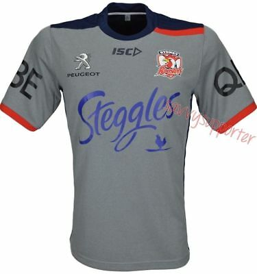 Sydney Roosters Grey Training Shirt 'Select Size' S-5XL BNWT6