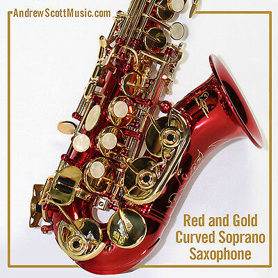 Curved Soprano Saxophone, Red - Masterpiece