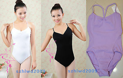 Ladies Ballet Leotard Women's Dance Gymnastics Bodysuit Leotards & Lace 3Colors