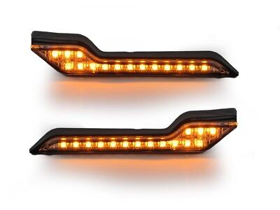 Barkbusters NEW LED Motorcycle Handguards Amber Light Indicator Set x2 Pair
