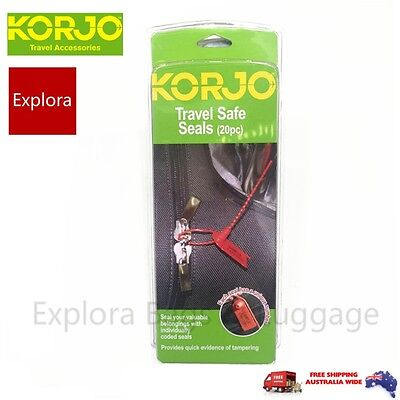 KORJO Travel Safe Seals-Luggage Bags Coded Seals  20 pc TSS38