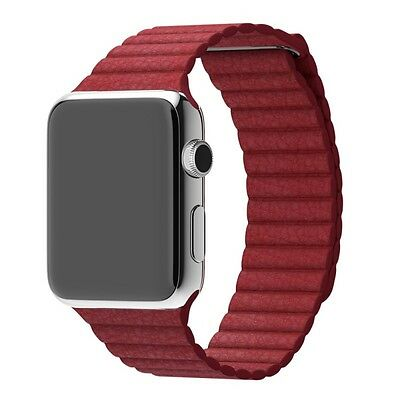 Mobiletto Apple Watch 42mm Magnetic Loop Armband rot