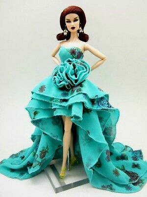 Eaki Evening Green Dress Outfit Gown Fits Silkstone Barbie Fashion Royalty Candi