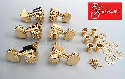 Grover Rotomatics 102 series 3L+3R Gibson style guitar machine heads, tuner Gold