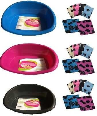 Plastic Pet Bed For Small Dog Puppies  Cat Animal Basket With Free Pet Blanket