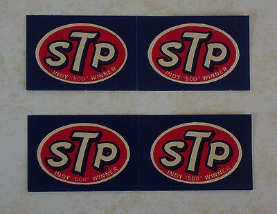 STP ..   Vintage Oil Gas  Racing  stickers  ...  INDY 500  -  NASCAR