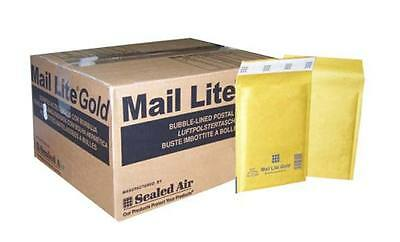 200 Size A / 000 Sealed Air Mail Lite Gold Padded Bag Envelope 110x160mm