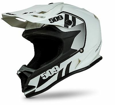New 509 Altitude Storm Chaser White Snowmobile Helmet Small Sm 509-Hel-Asc-Sm