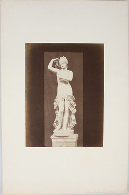 Mounted Albumen Print Of A Statue Of Venus In The Vatican Museum.