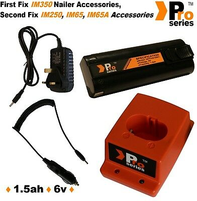 1xProSeries Battery for Paslode nailer-+Wall Charger+Charger Base+In Car Charger