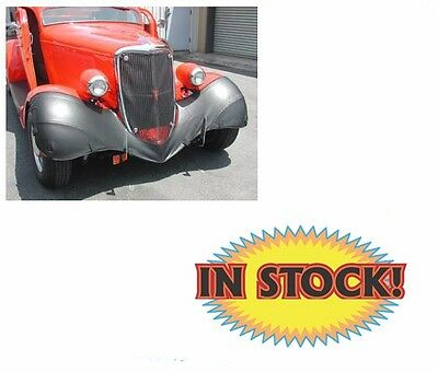 Wardlow 1933-34 Ford Passenger Car Fender Bra Black - BRA33F