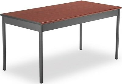 Contemporary Rectangular 30'' D x 60'' W Utility Table in Cherry - Office Table